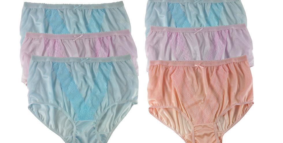 NLSG72 Lots 6 pcs Wholesale New Panties Granny Briefs Nylon Men Women