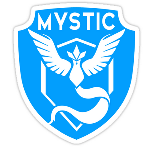 team mystic pokemon go territori SPKMR036 Cartoon Anime Car Window Decal Sticker