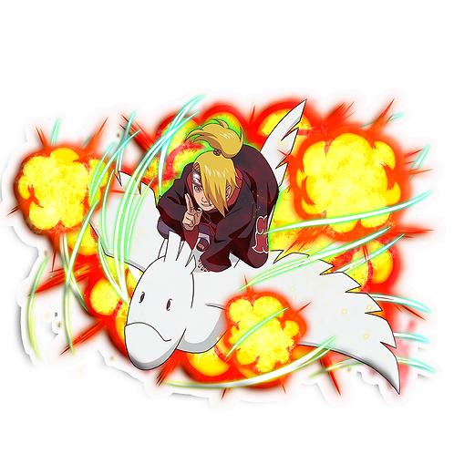 NRT44 Deidara Iwagakure Akatsuki Naruto anime stick