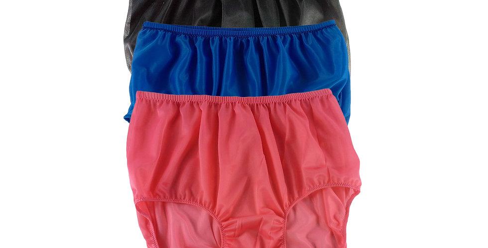 A86 Lots 3 pcs Wholesale Women New Panties Granny Briefs Nylon Knickers
