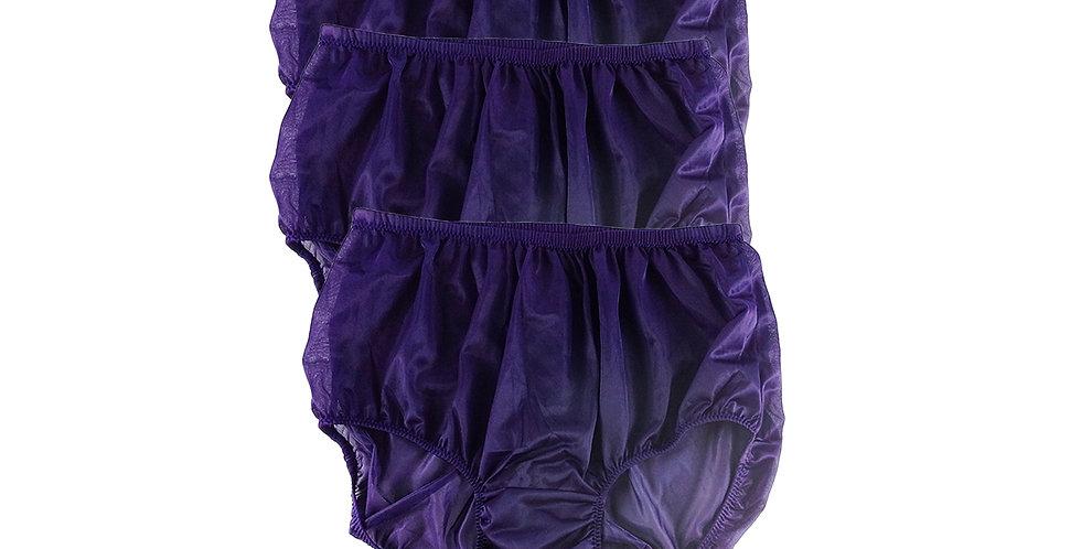 B3 DEEP BULE Lots 3 pcs Wholesale Women New Panties Granny Briefs Nylon