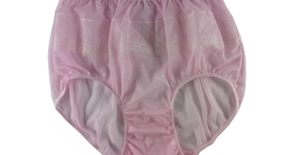JY04 Pink Silky Nylon Panties Women Men Floral Knickers Briefs