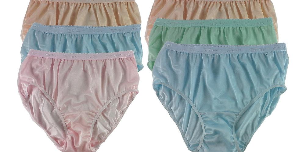 CKSL43 Lots 6 pcs Wholesale New Nylon Panties Women Undies Briefs
