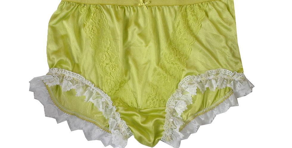 NLH24D13 Lime Green New Panties Granny Lace Briefs Nylon Handmade  Men