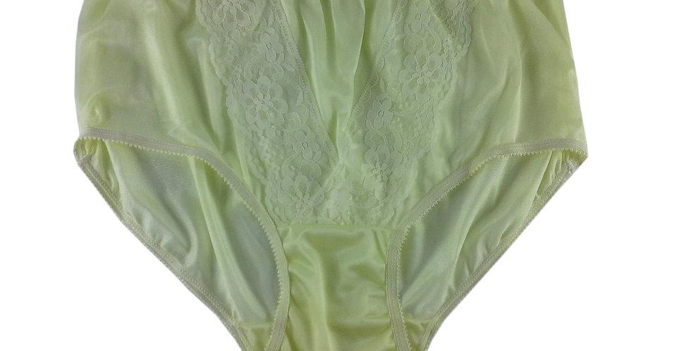 NL05 Yellow New Panties Granny Lace Briefs Nylon Underwear Men Women