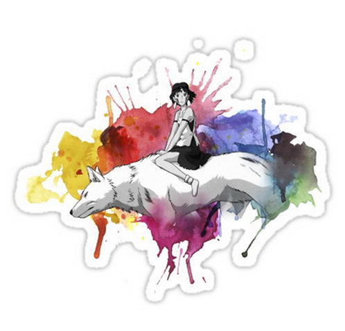 SRBB0756 Princess Mononoke anime sticker