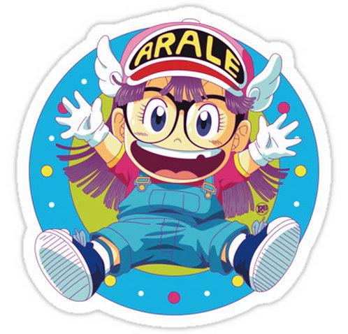 SRBB0615 Dr Slump e Arale anime sticker