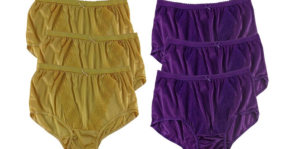 KJSJ03 Lots 6 pcs Wholesale New Panties Granny Briefs Nylon Men Women