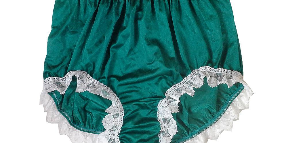 NQH24D11 Green New Panties Granny Briefs Nylon Handmade Lace Men