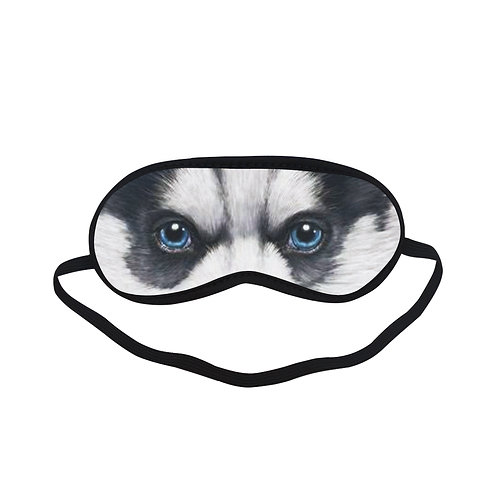 ATEM386 Siberian Husky Puppy Eye Printed Sleeping Mask