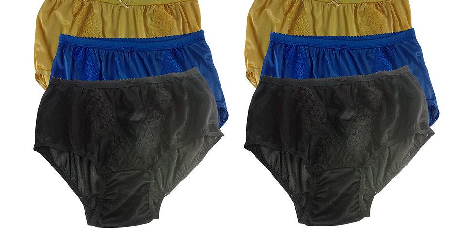 KJSJ67 Lots 6 pcs Wholesale New Panties Granny Briefs Nylon Men Women