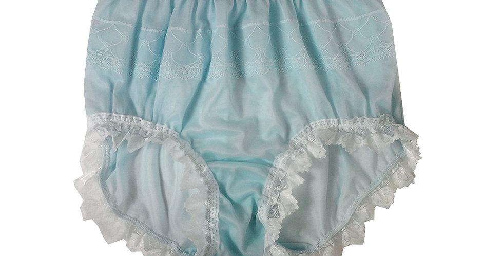 JYH24D08 Fair Blue Handmade Nylon Panties Women Men Lace Knickers Briefs