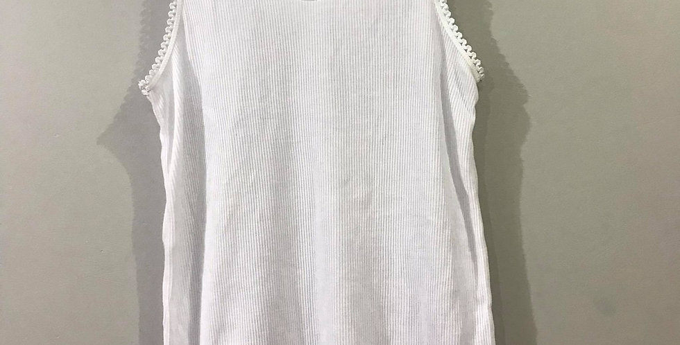 New White Cotton Blouse Lace Camisole Pinup Tank Top Women Men Lingerie CBL02