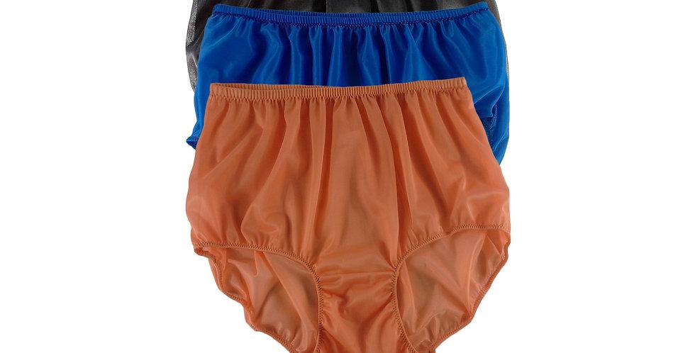 A105 Lots 3 pcs Wholesale Women New Panties Granny Briefs Nylon Knickers