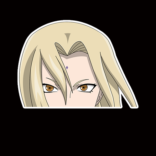 NOR237 Tsunade Naruto Peeking anime sticker Car Decal Vinyl Window