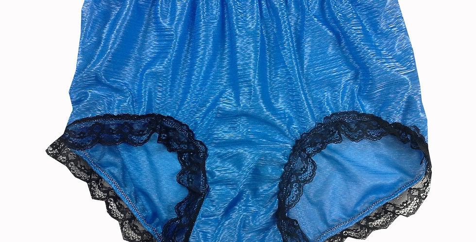 SFH08D02 Blue Shiny Nylon New Panties Women Men Handade Briefs