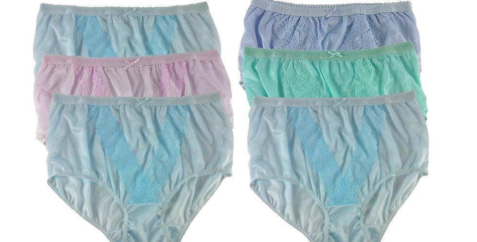 NLSG84 Lots 6 pcs Wholesale New Panties Granny Briefs Nylon Men Women