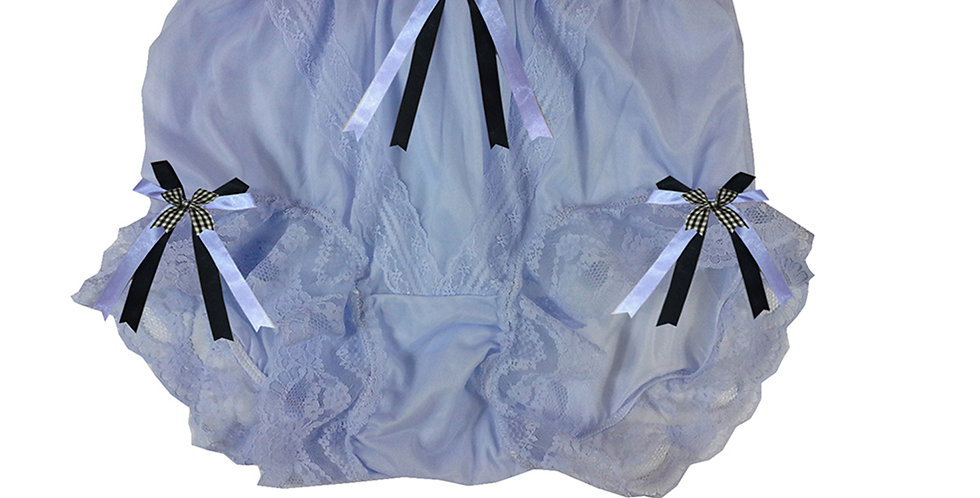 SSH18D09 Purple Handmade Nylon Panties Lace Women Granny Men Briefs