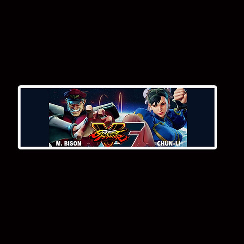 Slap Stickers Anime Stickers Decals Helmet laptops SLSF43 Street Fighter Game