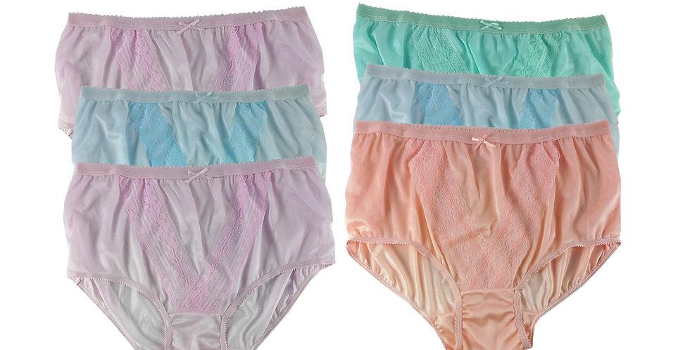 NLSG57 Lots 6 pcs Wholesale New Panties Granny Briefs Nylon Men Women