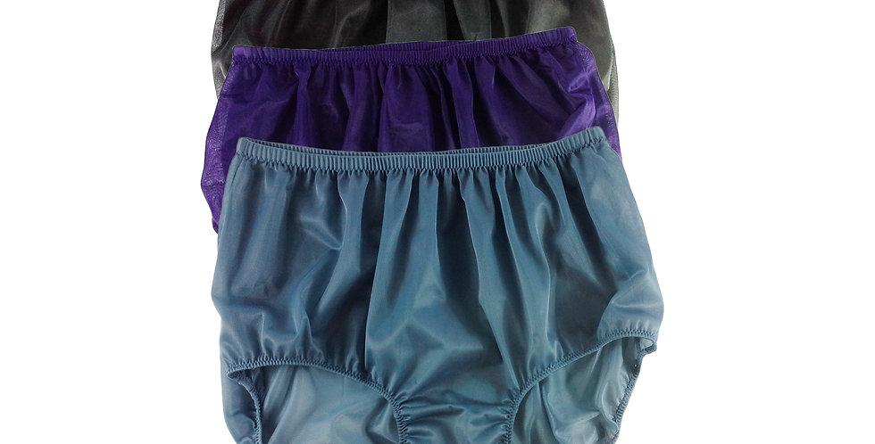 A2 Lots 3 pcs Wholesale Women New Panties Granny Briefs Nylon Knickers
