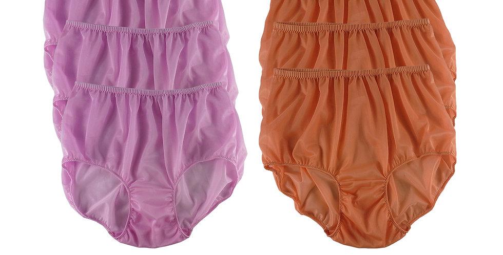 NSD54Lots 6 pcs Wholesale Women New Panties Granny Briefs Nylon Lingerie