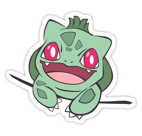 bulbasaur in pocket SPKMR047 Cartoon Anime Car Window Decal Sticker