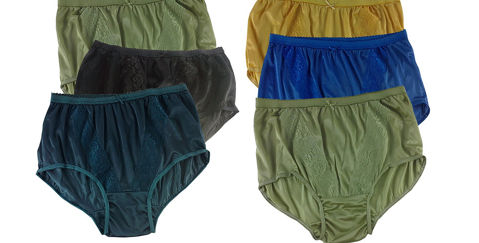 KJSJ24 Lots 6 pcs Wholesale New Panties Granny Briefs Nylon Men Women