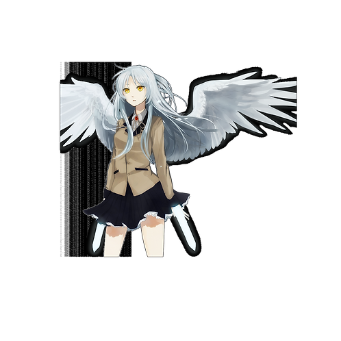 Anime Sticker Car Window Decal SAGB032 Tenshi Angel Beats Tachibana Kanade