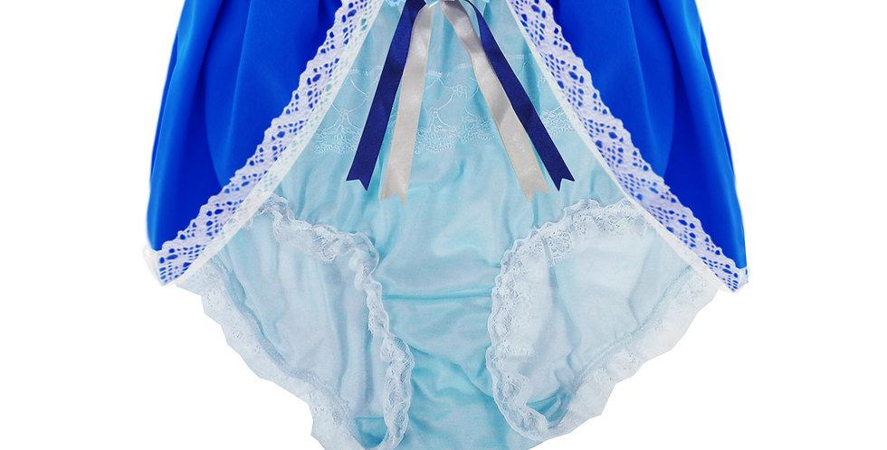 Blue Sheer Nylon Briefs Men knickers Handmade Costume Panty Frozen Panties