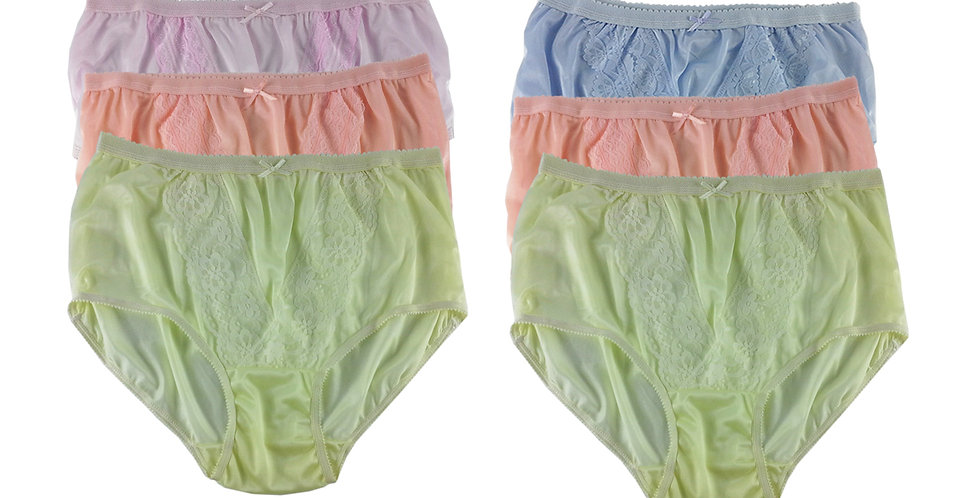 NLSG90 Lots 6 pcs Wholesale New Panties Granny Briefs Nylon Men Women