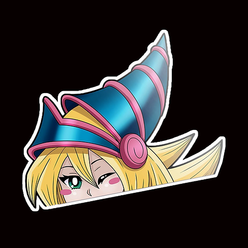 Anime Peeker Sticker Car Window Decals PK020 Dark Magician Girl Peek