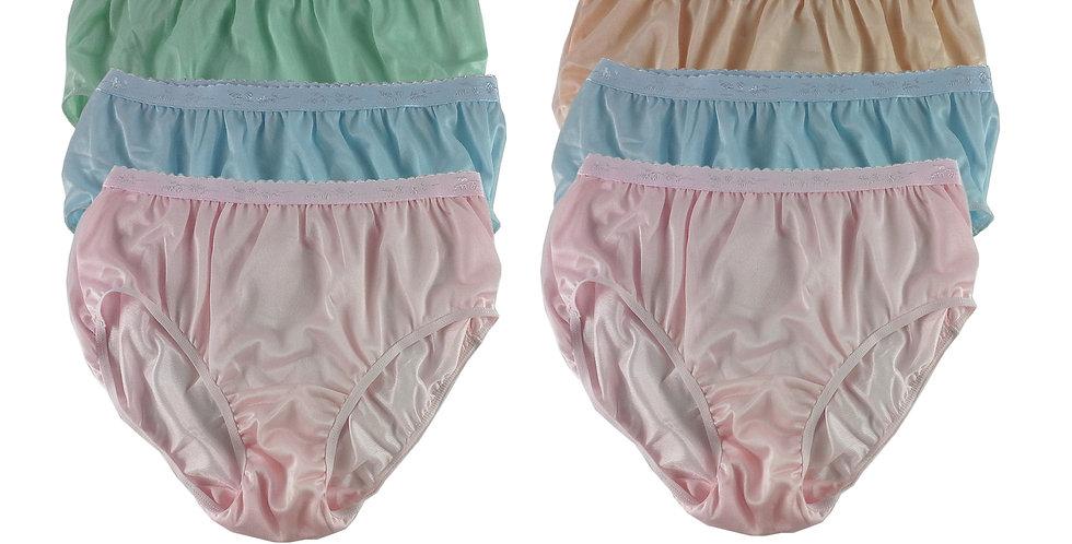 CKSL17 Lots 6 pcs Wholesale New Nylon Panties Women Undies Briefs