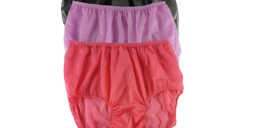 A80 Lots 3 pcs Wholesale Women New Panties Granny Briefs Nylon Knickers
