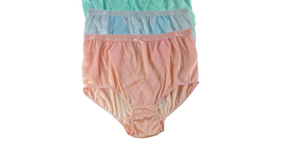 NLTH12 Lots 3 pcs Wholesale Panties Granny Lace Briefs Nylon Men Woman