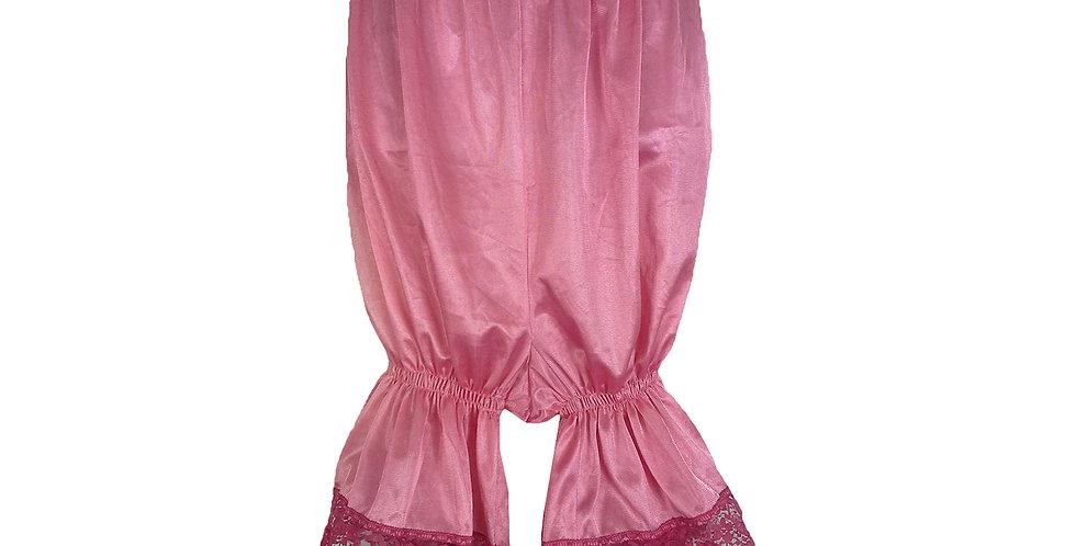 PTPH02D02 Deep Pink New Nylon Pettipants Women Men Slips Lace Lingerie