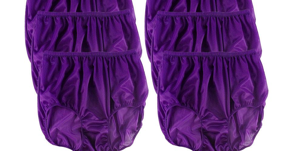 NSC6 Deep PurpleLots 6 pcs Wholesale Women  Panties Granny Briefs Nylon Lingerie