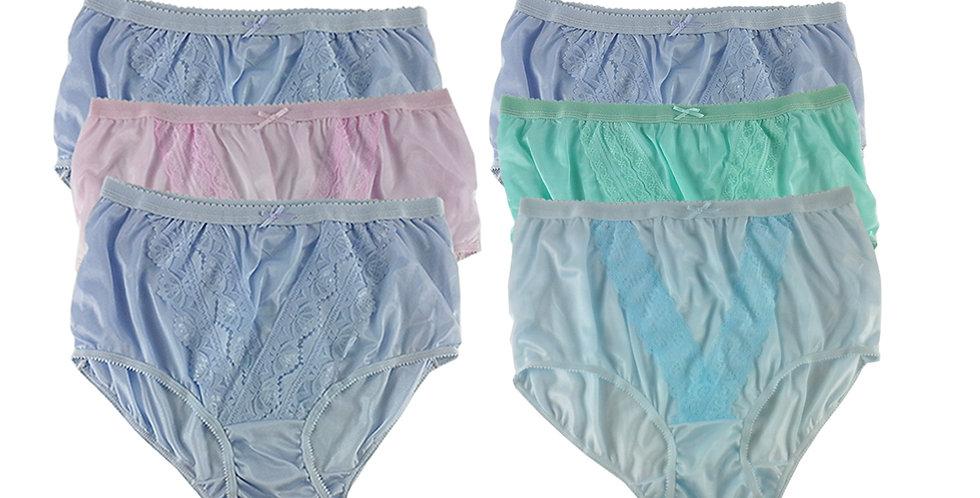 NLSG34 Lots 6 pcs Wholesale New Panties Granny Briefs Nylon Men Women