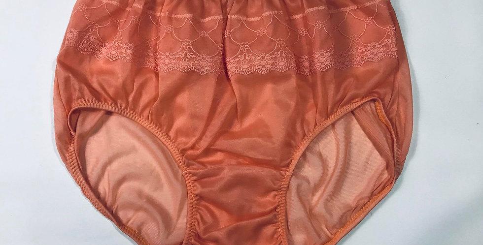 New Sissy Orange Underwear Nylon Brief Panties Men Floral Knickers Lingerie JY13