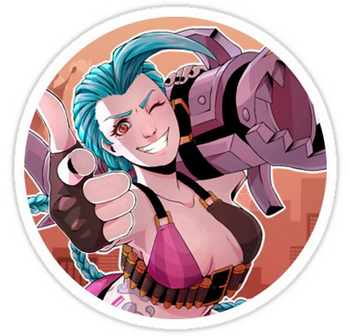 SRBB0726 G E T J I N X E D anime sticker