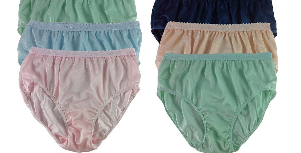 CKSL35 Lots 6 pcs Wholesale New Nylon Panties Women Undies Briefs