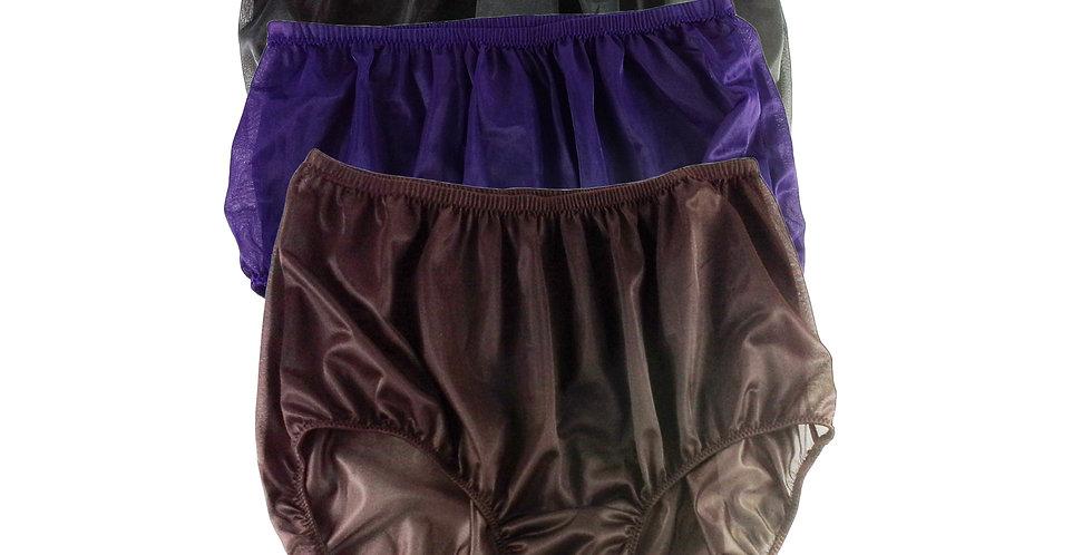 A1 Lots 3 pcs Wholesale Women New Panties Granny Briefs Nylon Knickers Underwear