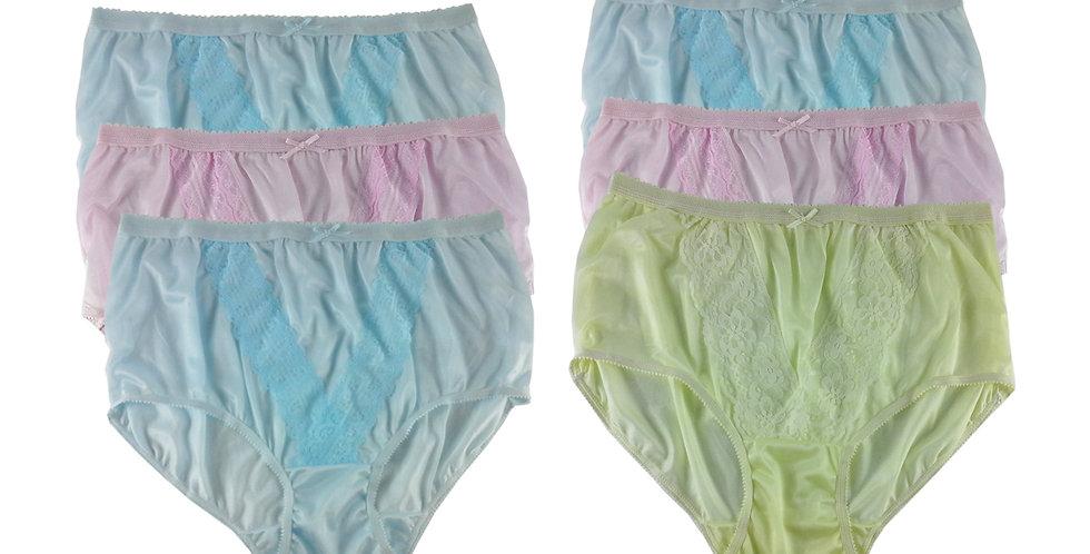 NLSG70 Lots 6 pcs Wholesale New Panties Granny Briefs Nylon Men Women