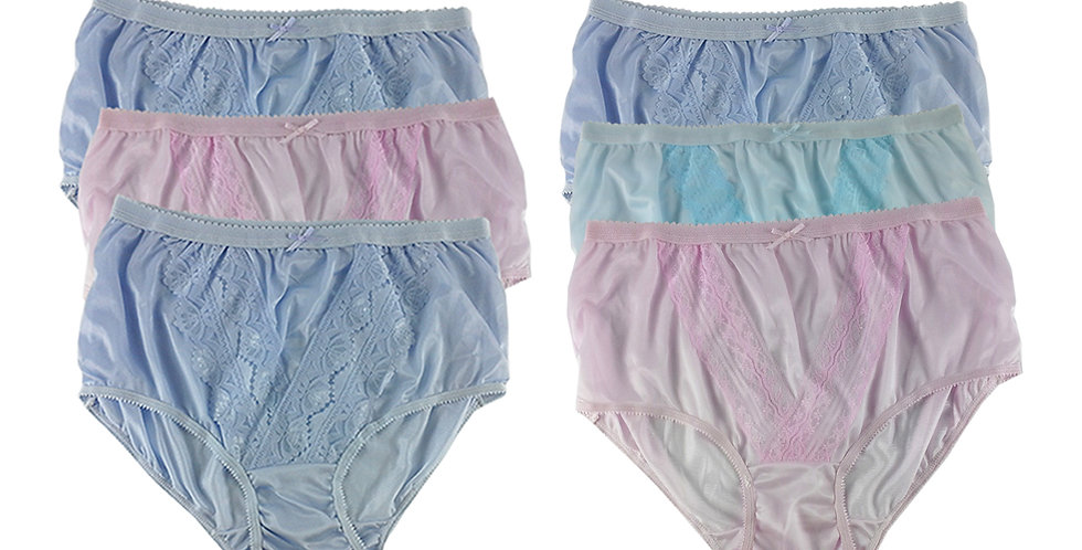 NLSG30 Lots 6 pcs Wholesale New Panties Granny Briefs Nylon Men Women