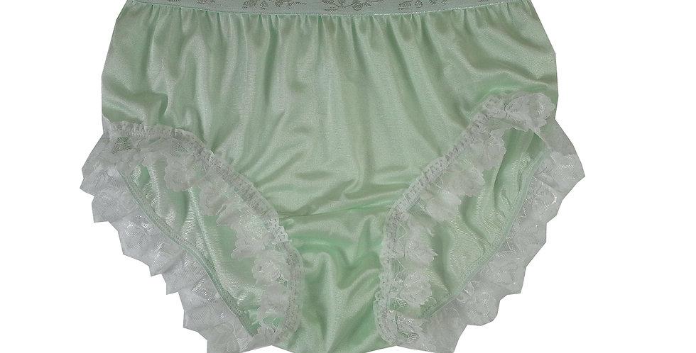 CKH24D01Green Silky New Nylon Panties Handmade Lace Floral Women Knicker