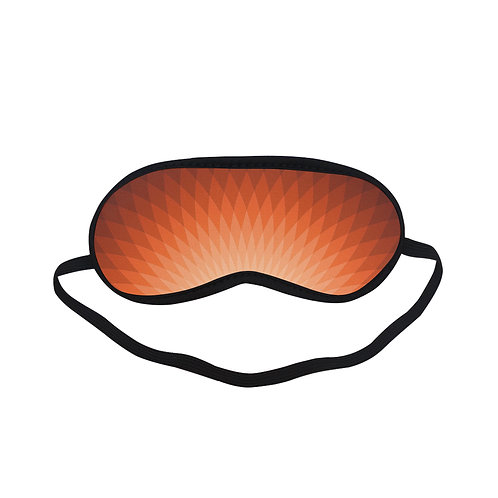 PTEM035 Orange geometric design  Eye Printed Sleeping Mask
