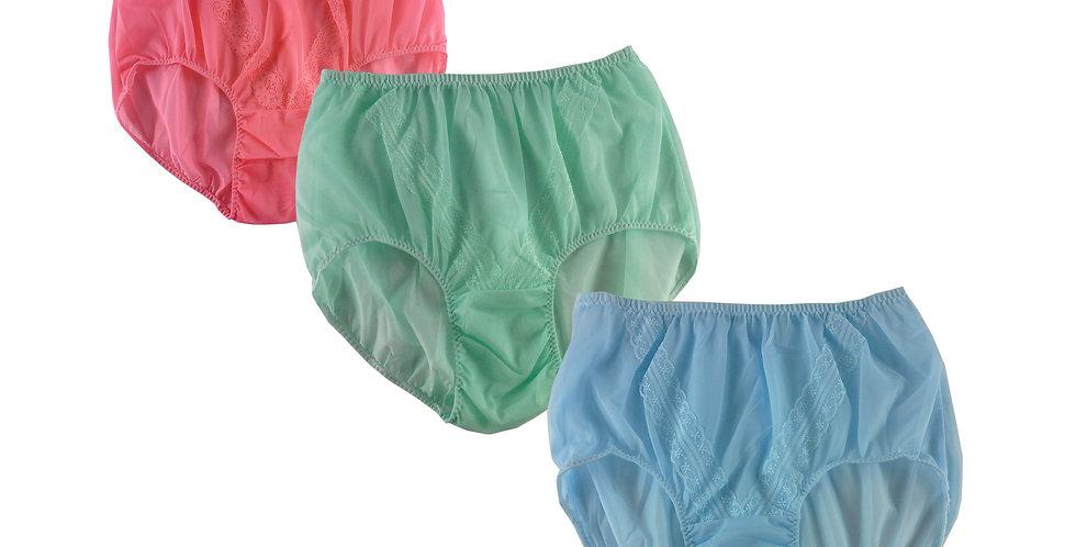 SSTM13 Lots 3 pcs Wholesale New Nylon Panties Lace Women Men Briefs