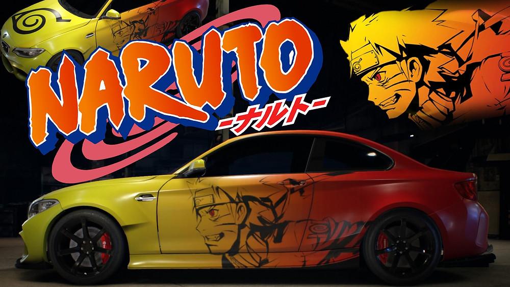 car with anime design