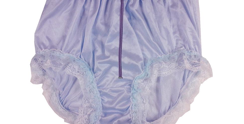 NQH23DP07 Fair Blue Purple New Panties Granny Briefs Nylon Handmade Lace Men