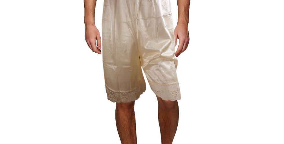 PTM02 brown Silky Nylon Pettipants Women Men Slips Lace Underwear